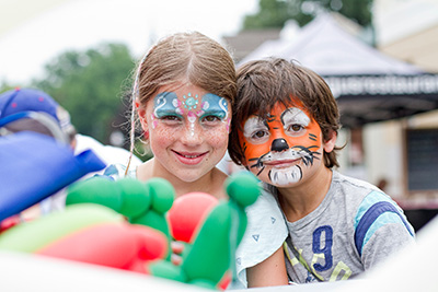 facepainted children