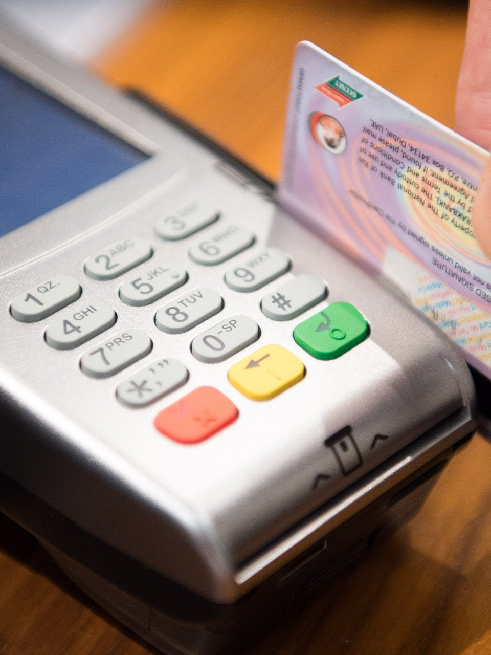 Image of a debit card payment