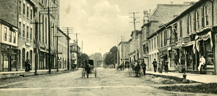 Historic photo of downtown St. Marys.
