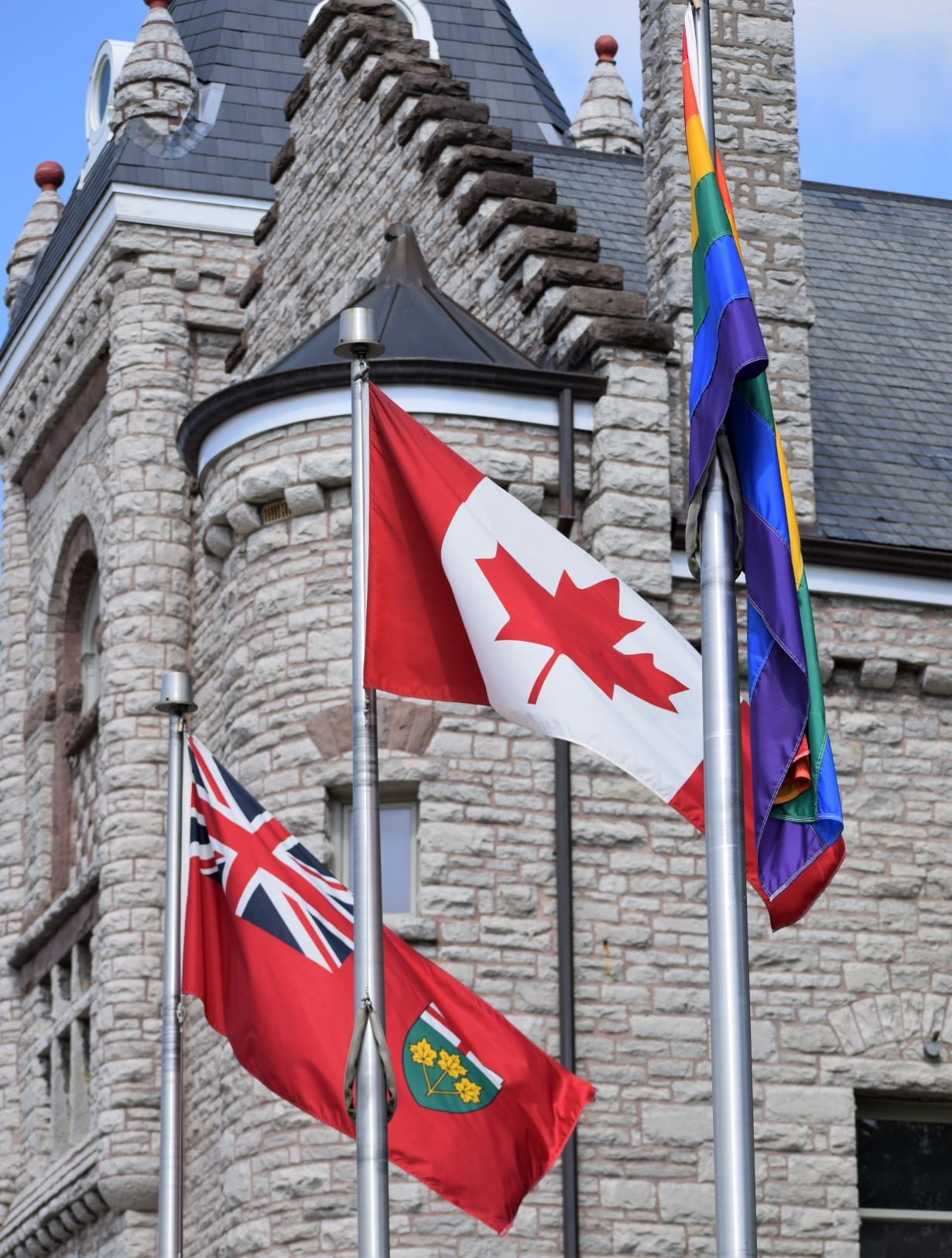 Flags at Town Hall