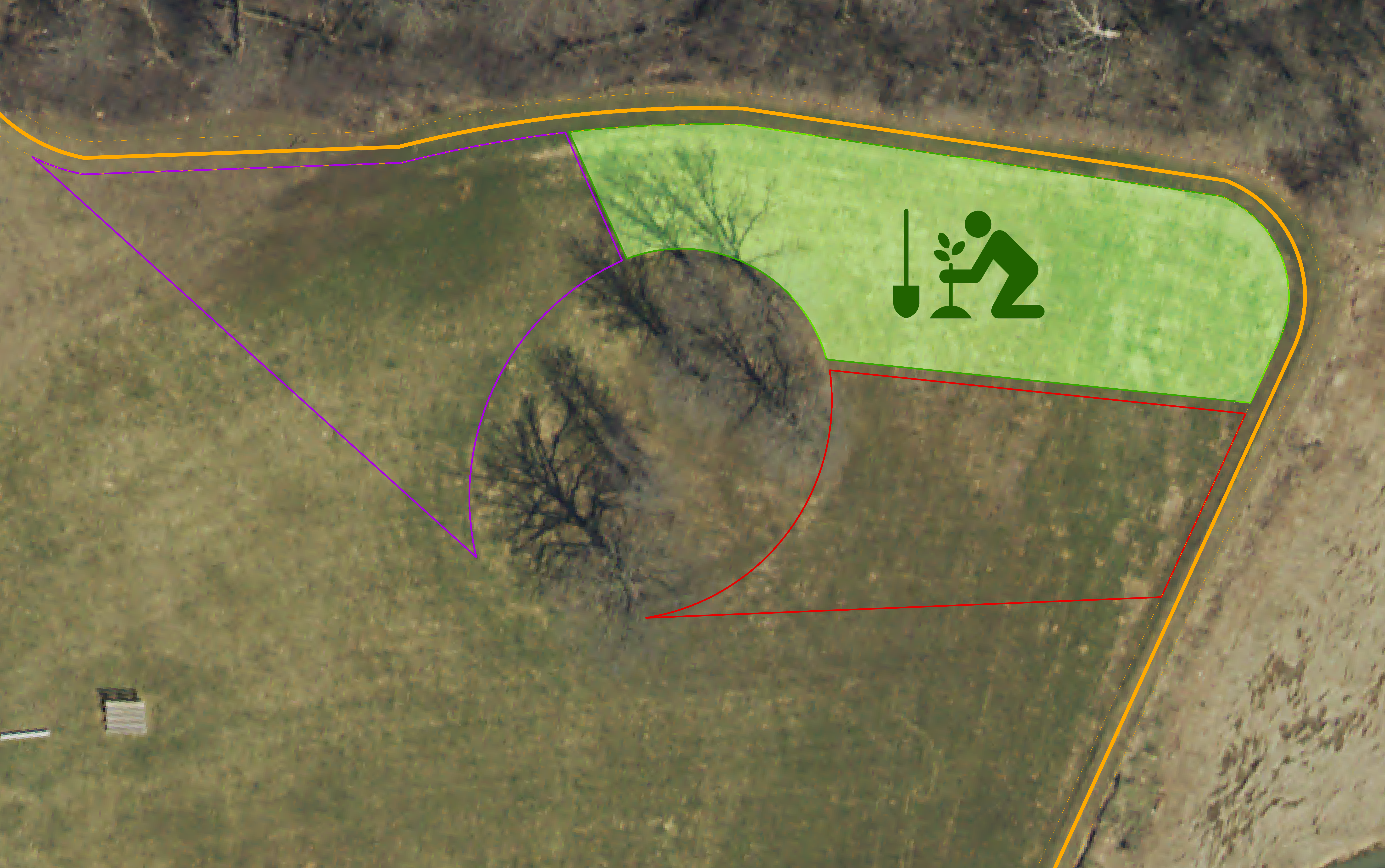 Map of area to be planted first