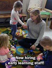 Now hiring early learning staff!